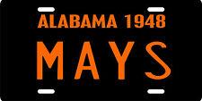 Willie Mays Birmingham Black Barons Negro League 1948 Alabama License Plate