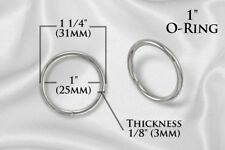 "10pcs - Metal O Rings O-Ring 1"" Non Welded NICKEL (ORG-108)"