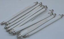 """LOT 25 FLAT SLIM WIRE SATELLITE CABLE APPLICATIONS DOOR & WINDOW 8"""" LONG"""