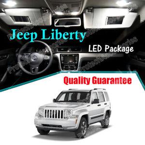 White LED Lights Interior Package Kit for 2008 - 2012 Jeep Liberty KK