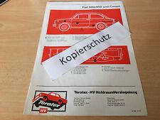 Fiat 600 / 850 und Coupe, Terotex Hohlraumversiegelungsplan