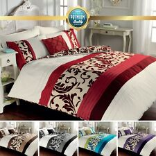 Printed Swirl Scroll Duvet Cover Set With Pillowcases Single Double King Sizes