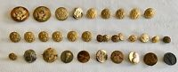 Vintage Lot Of 31 Military Buttons And Pins