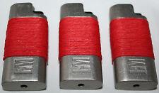 L & M Feuerzeuge 3x Metall Einschub BIG Marken Feuerzeug Tabak Rauchen Red Rot