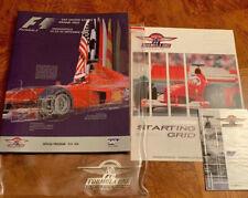 US F1 Formula 1 Grand Prix Indianapolis  2000  Program  Schumacher Start Grid