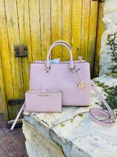 NWT Michael Kors Savannah LG Satchel Saffiano leather handbag/Wallet blossom