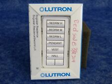 Lutron Rkd-W6Brl-Wh-E Homeworks 6 button keypad with Raise/Lower in White