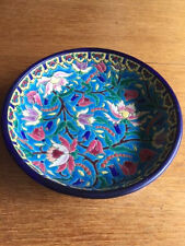 FRENCH EMAUX DE LONGWY MAJOLICA FOOTED BOWL