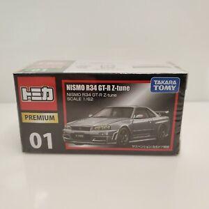 Takara Tomy Tomica Premium NISMO R34 GT-R Z-Tune Silver HTF