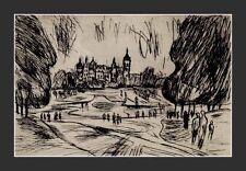 Moderne Kunst, signiert Klein, datiert 54 (1954) ,Spaziergang Im Schloßpark   x