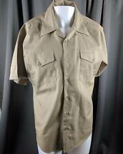 Creighton USA MED Military Short Sleeve Button Down Camp Shirt