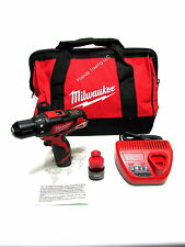 Milwaukee 12V 12 Volt M12 Lithium Ion Cordless Compact Drill Driver 2407 2407-22