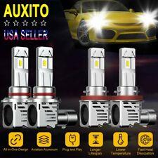4X AUXITO 9005 H11 Zes LED Headlight Kit Hi/Low Beam 6500K Mini Bulb 48000LM 12V