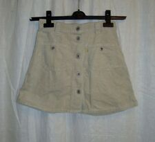 VTG Ladies REPLAY casual grey corduroy button front mini skirt  sz XS great co