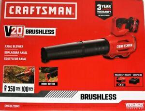 NEW sealed box!! Craftsman Leaf Blower 20V Li-ion 375 CFM 105 MPH CMCBL720M1 Kit
