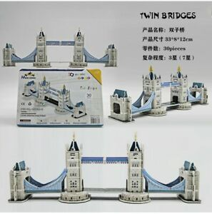 3D bridge model Puzzle Jigsaw Edition for Kids Adult Puzzles Education Toy DIY