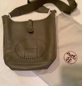 Hermes Evelyne Shoulder Bag Leather Taupe & Dust Storage Bag