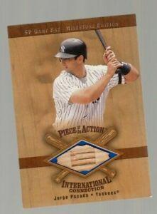 Jorge Posada 2001 Upper Deck SP Piece of the Action International Game Used Bat