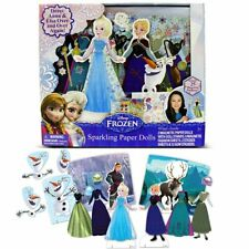 Disney Frozen Sparkling Magnetic Paper Dolls ~Anna ~ Elsa~ Over 25 Fashions NEW