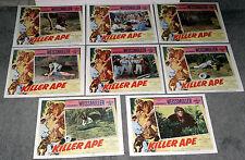 KILLER APE 11x14's JOHNNY WEISSMULLER/JUNGLE JIM original 1953 lobby card set