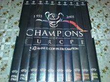 lotto COFANETTO 10 DVD box CHAMPIONS OF EUROPE 50 ANNI COPPA CAMPIONI Juve/Inter