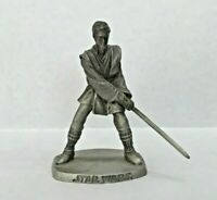 "Rawcliffe Pewter Anakin Skywalker w/ Light Saber 2002 Star Wars 2.5"" Figure HTF"