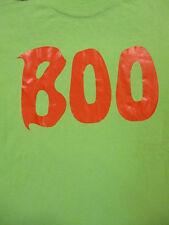 L lime green BOO t-shirt by GILDAN - HALLOWEEN - ghost
