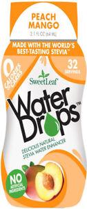 Sweet Drop Water Enhancer by SweetLeaf, 1.5 oz Peach Mango 1 pack