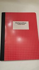 "Engineer's 5x5 Composition Graph Ruled Notebook RED COVER  9 3/4"" x 7 1/2"""