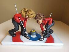 Women`s Curling Team Figurine Winter Olympics Warren Stratford Artist Resin New
