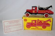 ERTL 1931 HAWKEYE WRECKER TOW TRUCK, SHELL OIL NO. 2, EXCELLENT, BOXED
