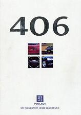 PEUGEOT 406 auto PROSPEKT 12 96 prospetto brochure 1996 auto automobili Francia