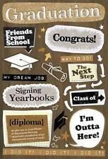 Karen Foster Design Cardstock Scrapbook Stickers - Graduation