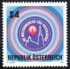 SELLOS TEMA MEDICINA. AUSTRIA 1983 1574 CONGRESO PSIQUIATRIA  1v.