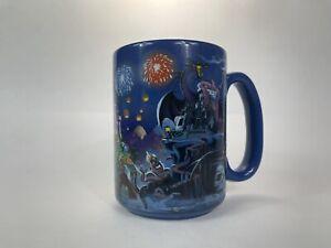 Walt Disney World Printed Handle-Characters Wrap Around Graphics Blue Tall Mug.