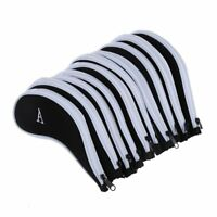 10 pcs Golf Club Iron Putter Head Cover HeadCovers Protect Set Fit for All H4E6