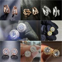 Fashion 925 Silver,Gold,Rose Gold Stud Earrings for Women Jewelry A Pair/set