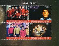 Chad 2018 CTO Star Trek Leonard Nimoy Spock William Shatner Kirk 4v M/S Stamps