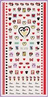 Nail Art Water Decals Stickers Transfers Red Bows Hearts Minnie Mickey Mouse 172
