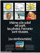 PUBLICITE ADVERTISING 095  1967  FERRANIA pellicules photo DIA 28