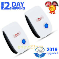 2x Indoor Ultrasonic Pest Reject electromagnetic Repeller Anti Mosquito Insect