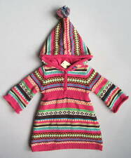 NWT Baby Gap HIMALAYA Girls 3 6 Mo Pink Hooded Fair Isle Sweater Dress