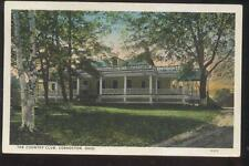 Postcard COSHOCTON Ohio/OH  Local Area Golf Course Country Club House 1920's