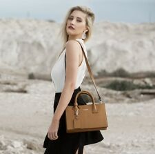 SALE was $239 Clarence Frank- Jasmin Small Tote- Tan- Woman Bag- Genuine Leather
