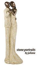 Stone Portrait Figurines by Juliana Gift Ornament Husband Wife Couple Statue #79
