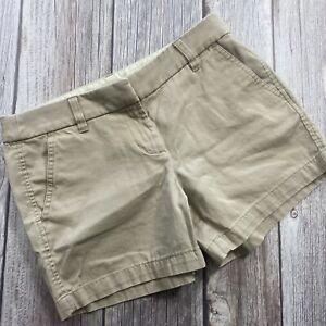 J.Crew CHINO Women's Beige Cotton Casual Summer Shorts Size 2