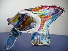 Murano Art Glass Colorful Fish Italian Figurine. Stunning! Italy