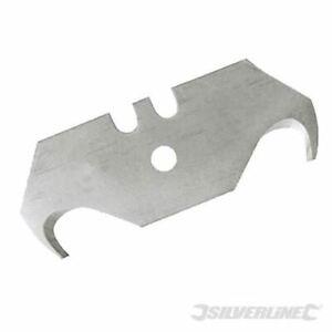 Silverline Hooked Blades 10pk 0.6mm 282409