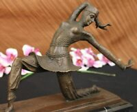 BRONZE ART DECO NOUVEAU SCULPTURE CHIPARUS LARGE MARBLE BASE FIGURINE HOME DECOR