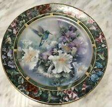 VTG The Broad-billed Hummingbirg By Lena Liu Decor Plate Wall Stand Numbered1993